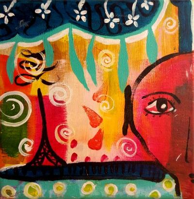Aussicht - Gemälde von Nina Aristea Kiehl