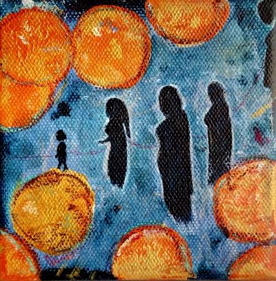 Ahninnen ein Acrylbild von Nina Aristea Kiehl